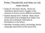 pinter theodoridis and yates on risk news shocks