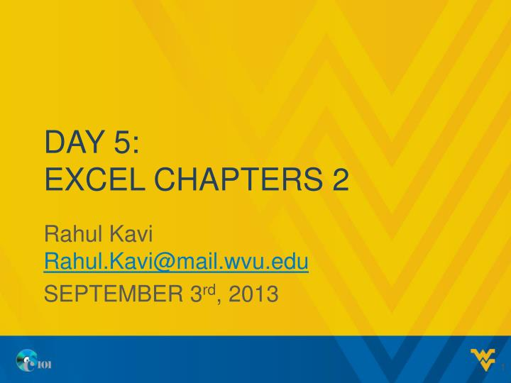 day 5 excel chapters 2 n.