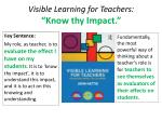 visible learning for teachers know thy impact
