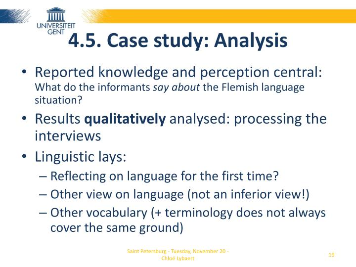 4.5. Case study: Analysis