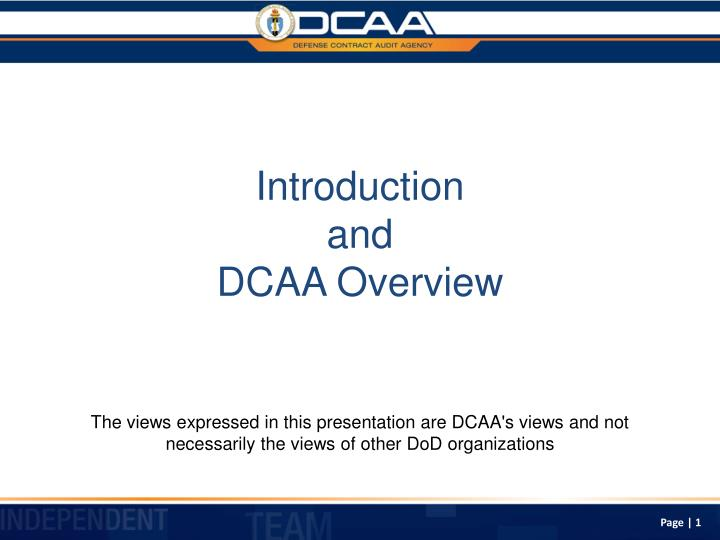 introduction and dcaa overview n.