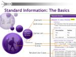 standard information the basics