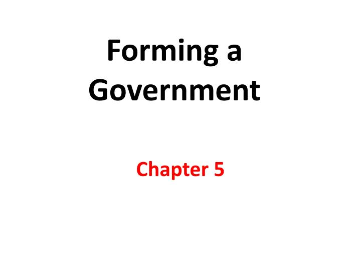 forming a government n.