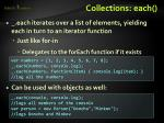collections each