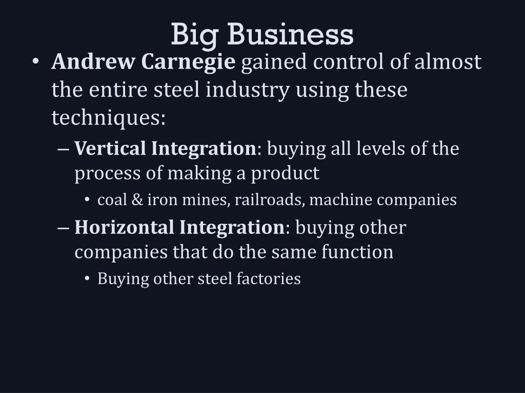 Ppt Big Businesses And Big Labor Powerpoint Presentation Id2196208