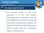 pricing procedure29
