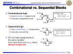 combinational vs sequential blocks