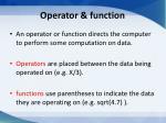 operator function