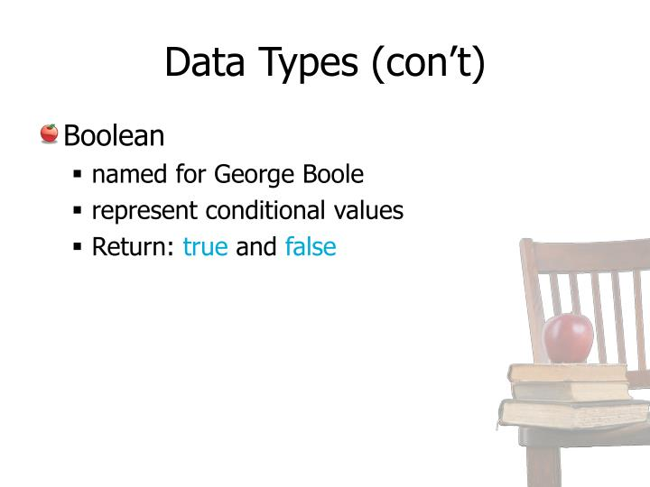 Data Types (