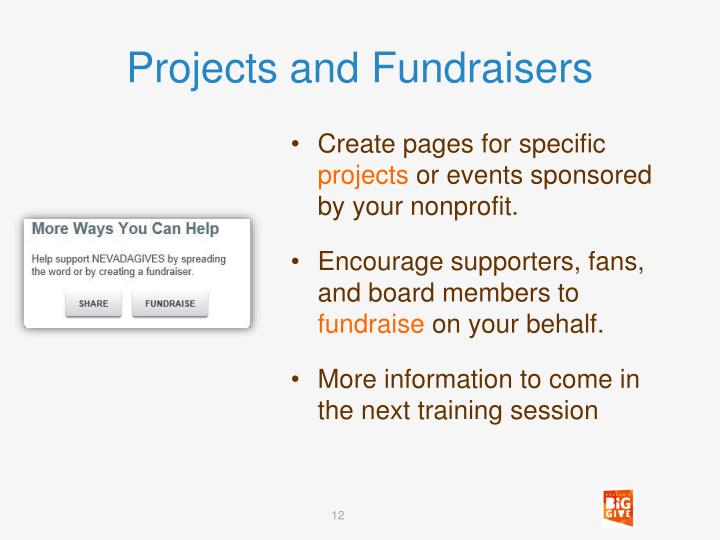 Projects and Fundraisers