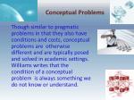 conceptual problems