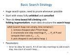 basic search strategy