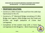highlights on the major greenfield highways investment opportunities 2 nd lagos outer ring road2