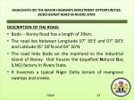 highlights on the major highways investment opportunities bodo bonny road in rivers state
