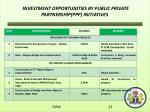 investment opportunities by public private partnership ppp initiatives1