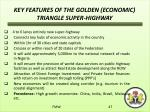 key features of the golden economic triangle super highway