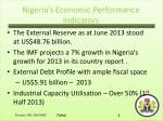 nigeria s economic performance indicators