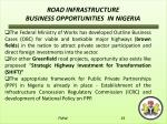 road infrastructure business opportunities in nigeria