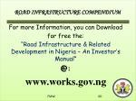 road infrastructure compendium