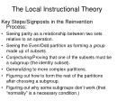 the local instructional theory