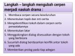 langkah langkah mengubah cerpen menjadi naskah drama