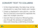 convert text to columns