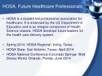 hosa future healthcare professionals