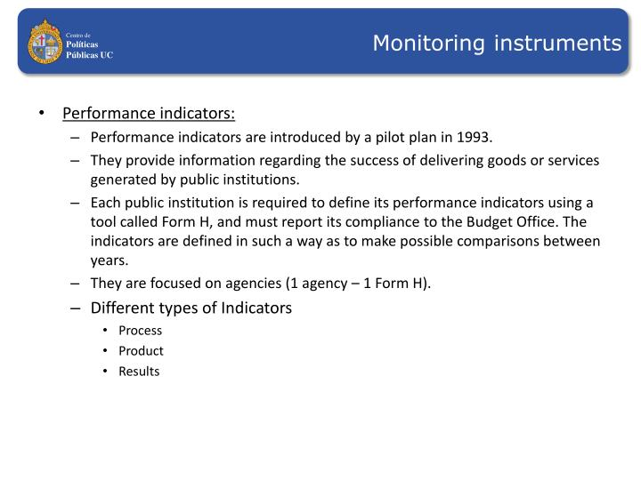Monitoring instruments