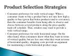 product selection strategies