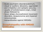 encephalopathy with nmdar antibodies