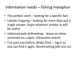 information needs fishing metaphor