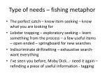 type of needs fishing metaphor