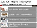 solution integrate and strengthen business process management