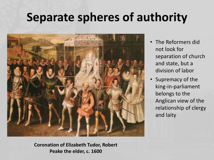 Separate spheres of authority