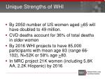 unique strengths of whi