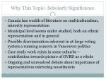 why this topic scholarly significance