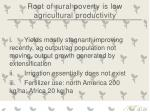 root of rural poverty is low agricultural productivity