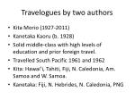travelogues by two authors