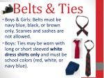 belts ties