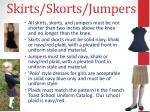 skirts skorts jumpers