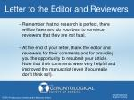 letter to the editor and reviewers1