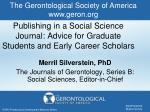 publishing in a social science journal advice for graduate students and early career scholars
