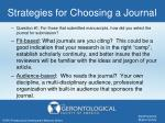 strategies for choosing a journal