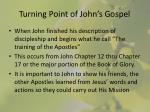 turning point of john s gospel