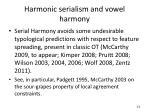harmonic serialism and vowel harmony