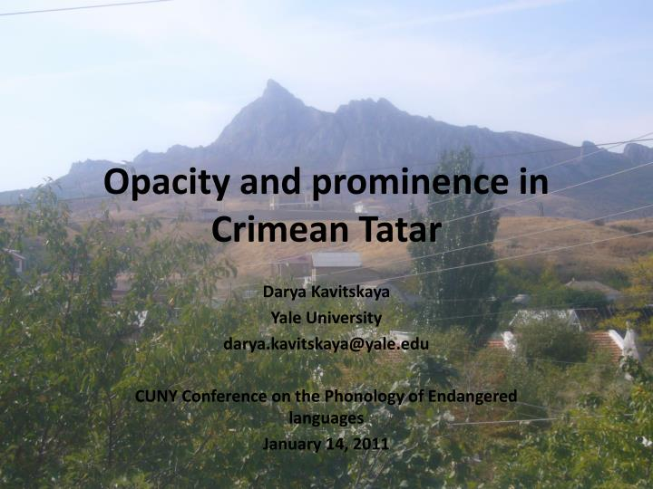 opacity and prominence in crimean tatar n.