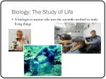 biology the study of life4