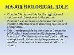 major biological role