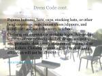 dress code cont
