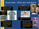 dress code shirts do s and don ts